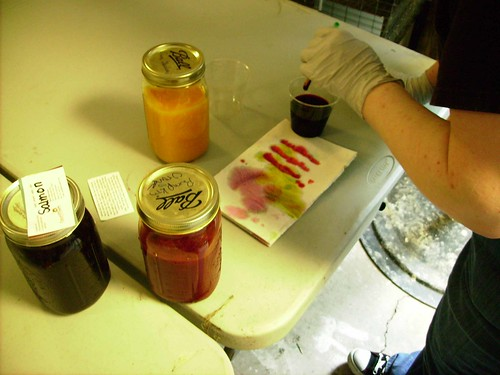 Mixing the Dye for the petals
