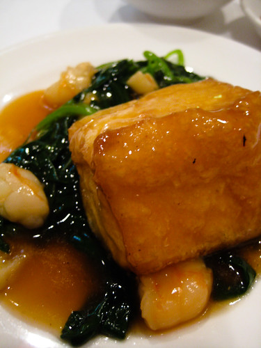 beancurd with spinach