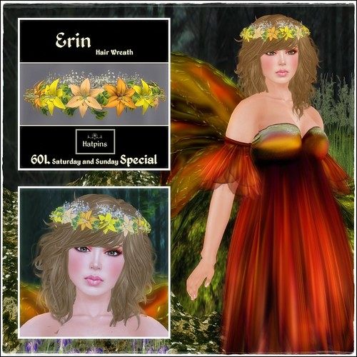 Hatpins - Erin Wreath - Citrus Lilies - 60L Special