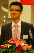 Weiwei Cheng bei der Preisverleihung