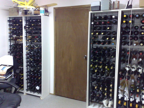 Wine and model aeroplane storage