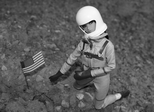 Erin Plants The American Flag On The Moon's Surface