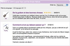 "Jamendo reviews for ""Crystal Tears and the Dream Nebula"" album"