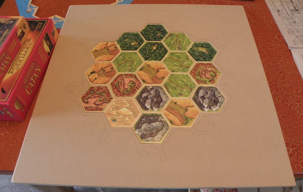 Catan Board with Hexes (4 players)
