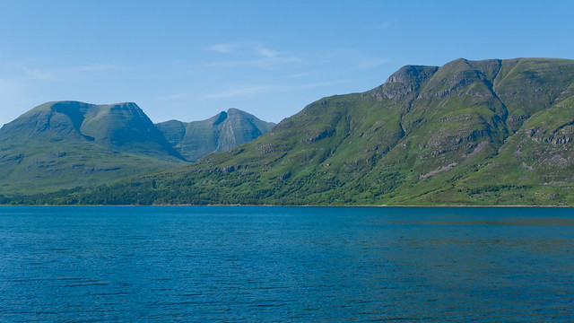 Sunny view over Loch Torridon