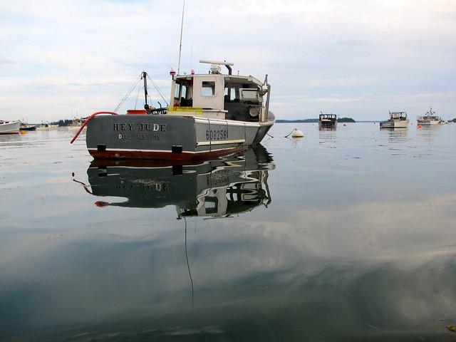 boats in the harbor, Hey Jude