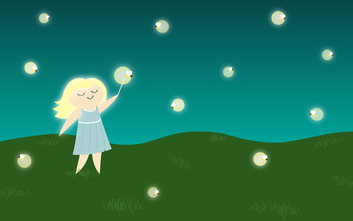 fireflies are nature's sparklers--free july desktop wallpaper download