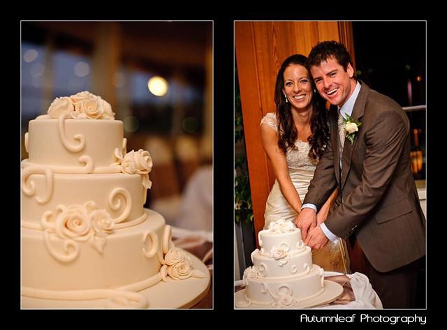 Amanda and Kieran's Wedding -  cake cutting