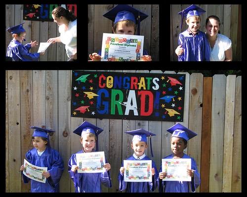 Jacob Preschool Grad Collage