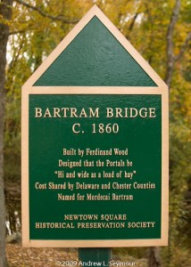 Bartram Covered Bridge – Main Sign