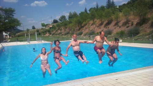 En la piscina de Ambite