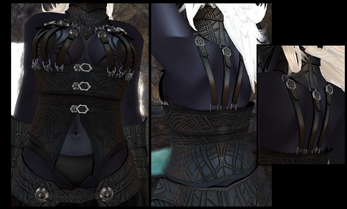 female dark elf - corset detail