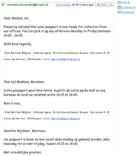 E-mail with Comic Sans font from British consulate