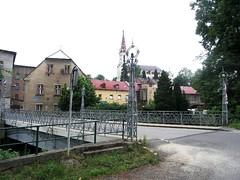 Chrastava (okres Liberec), most a dům čp. 297