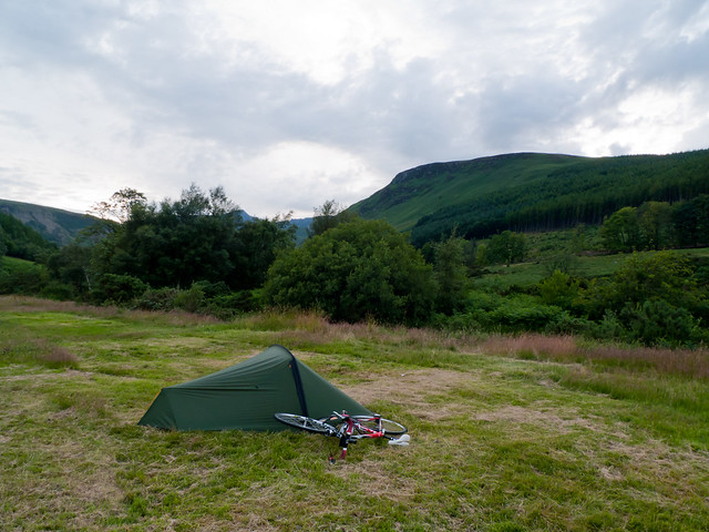 My tent and bike at Glen Rosa