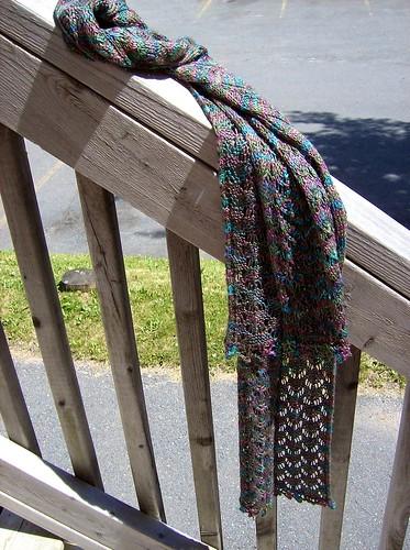 Odonata scarf, draped