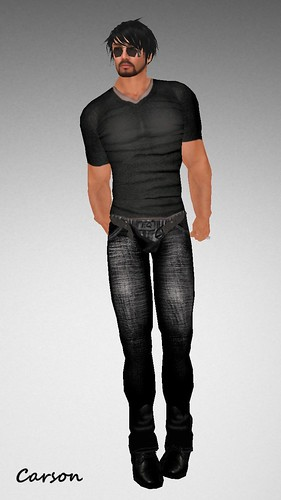 Style For Him Mens Black V-neck ($0L)
