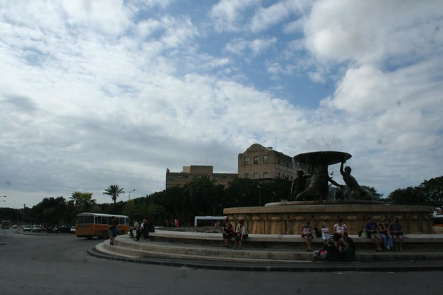 The Triton Fountain in City Gate Square, Valletta Malta