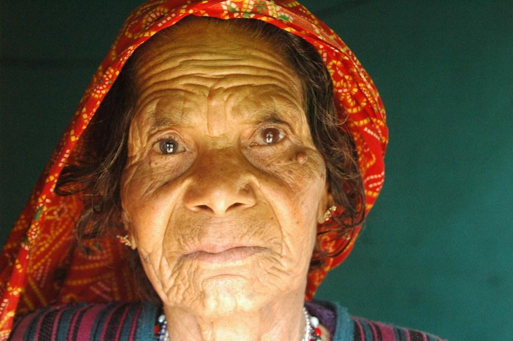 Longing - a grand mother waiting! Bhimtal, Uttarakhand, India