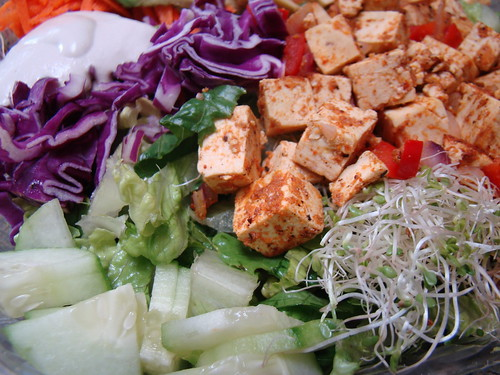 Tofu Poke and Veggies Salad