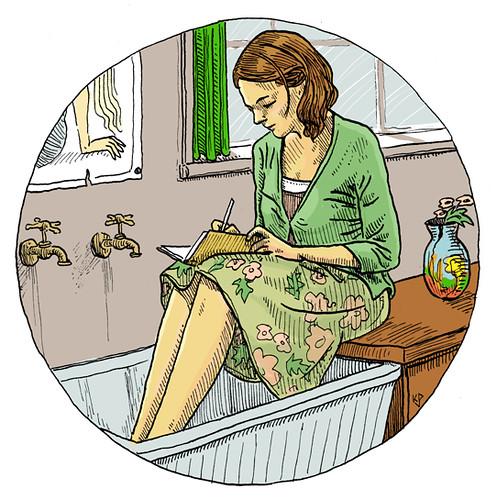 Illustration Friday: Diary
