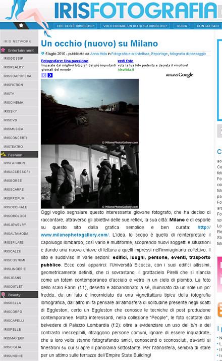 articolo irisfotografia