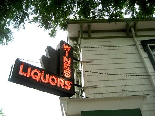 Wines, Liquors, Neon