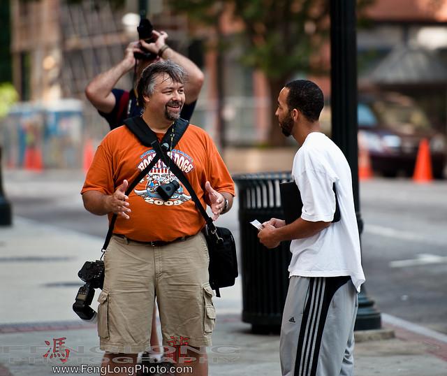 Ken Ross talking about the Photowalk