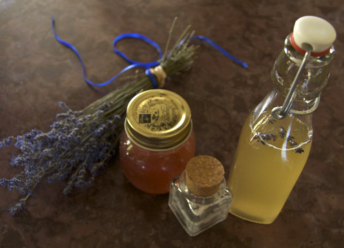 lavender jelly, salt and rosemary-lavender syrup