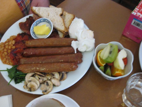 big breakfast with added sausages
