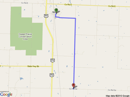 Aug 6 bike ride map