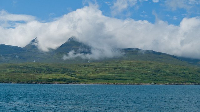 Cloud clinging to the Cuillins of Rum