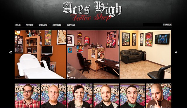 Aces High Tattoo Shop New Website and Shop Photos by Chris Martin