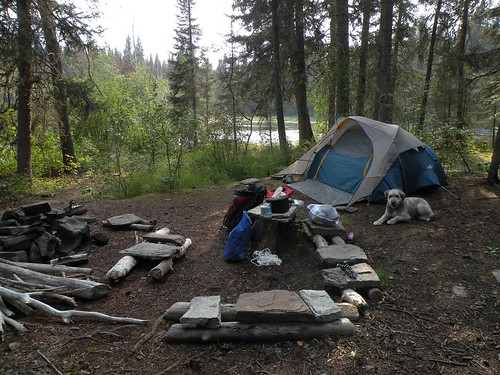 Kwasitchewan Falls Hike - Our Awesome Campsite