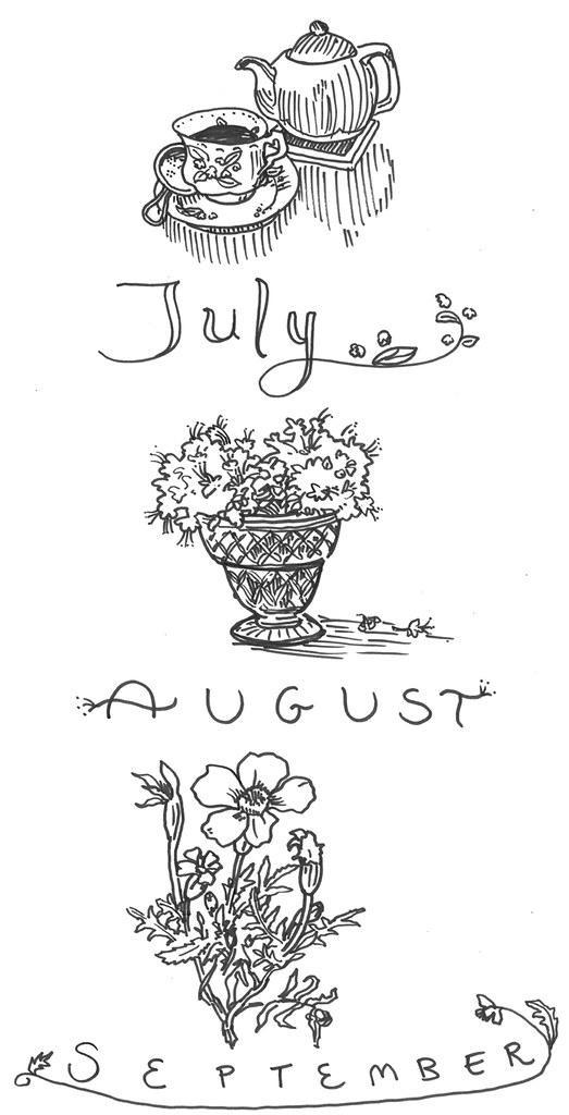 Kitchen calendar continued