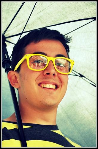 yellow glasses