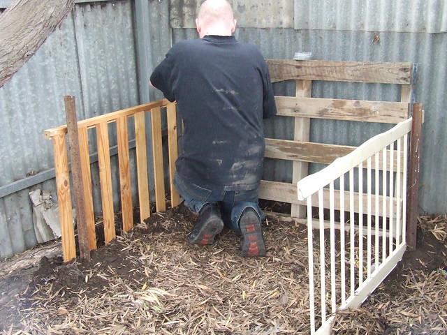 Compost bin avec manpanion
