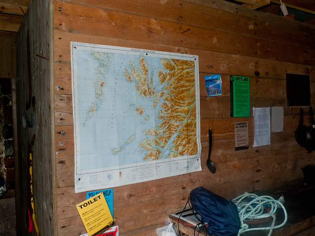 A map on the wall