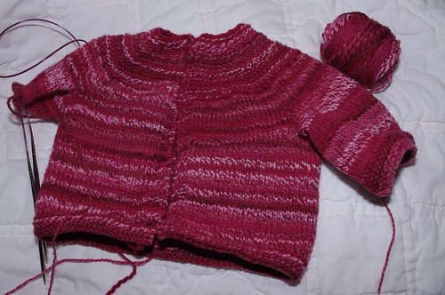 February Baby Sweater - Stockinette version