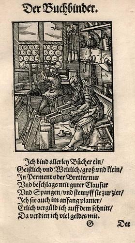 024-Encuadernador de libros-Ständebuch 1568-Jost Amman-Hans Sachs