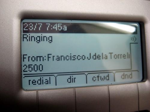 Recibiendo una llamada