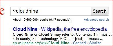 Google Poor Synonym result