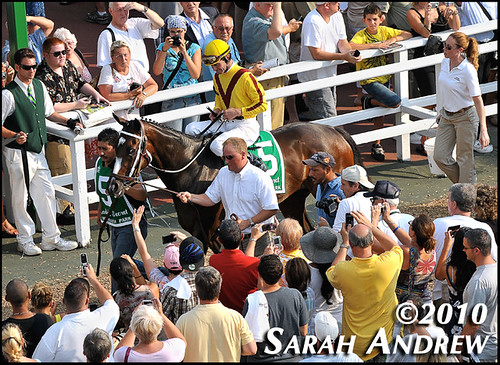 Rachel Alexandra and the Monmouth Park crowd