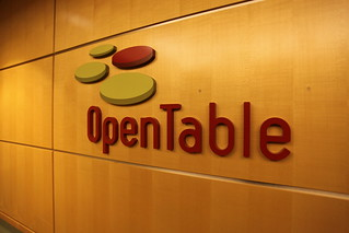 Opentable lobby sign