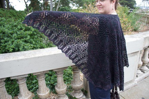 Corvid Diamond Shawl: wing