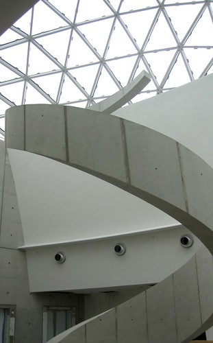 Spiral Staircase detail of thenew Dali Museum
