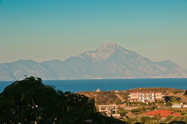Mt Athos from Sarti Vista