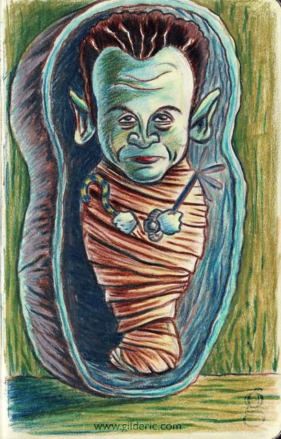 Sarkozy et son Sarkophage -caricature par Gilderic