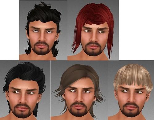 PM BIff Hair, Enzo Hair, Xander Hair, Simon Hair, Patrick Hair, Obsidian Eyes, Copper eyes