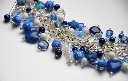 """Vintage blues"" charm bracelet"